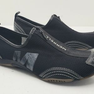 Merrell Womens Barrado Black slip on zip